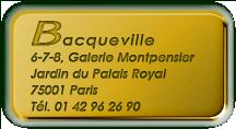 Bacqueville, médailles militaires et décorations civiles, Jardin du Palais Royal, Paris