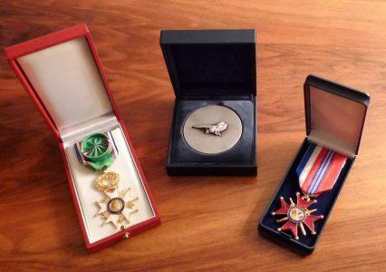Écrins pour médaille ou décoration