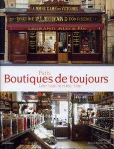 """Livre """"Paris, boutiques de toujours"""""""