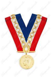 Colliers de cérémonie de maire avec chaîne et écrin
