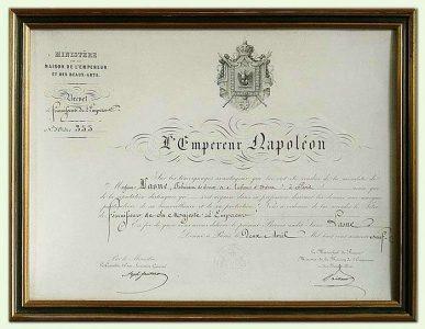 Droit de frappe par l'Empereur Napoléon III