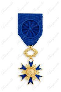 Ordre National du Mérite – Officier - Croix argent doré - Légende à jour