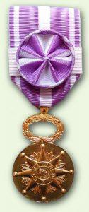 Bacqueville Médaille Etoile civique : grade vermeil