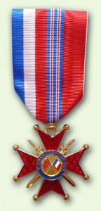 Bacqueville Médaille Franco-britannique : chevalier