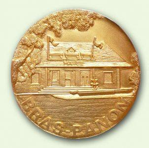 Médaille personnalisée Bras-Panon (recto)