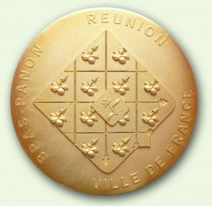 Médaille personnalisée Bras-Panon (verso)