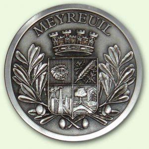 Médaille personnalisée Meyreuil Argent (recto)