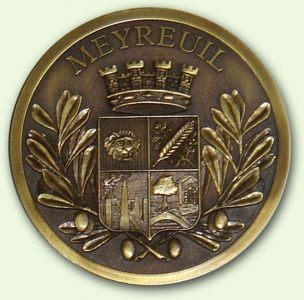 Médaille personnalisée Meyreuil Bronze (recto)