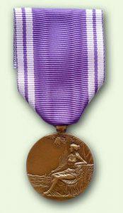 Bacqueville Médaille Service bénévole : grade bronze (verso)