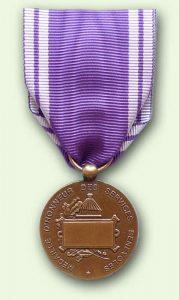 Bacqueville Médaille Service bénévole : grade bronze (recto)