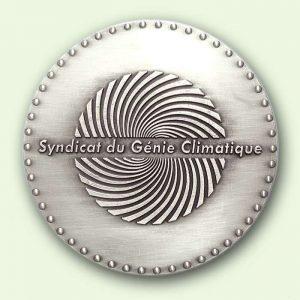 Médaille personnalisée argent : Saint Eloi (verso)