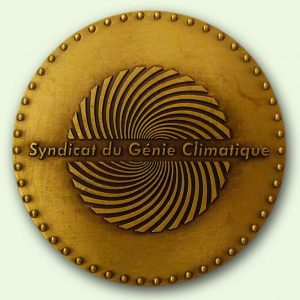 Médaille personnalisée bronze : Saint Eloi (verso)