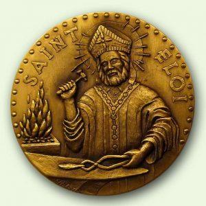 Médaille personnalisée bronze : Saint Eloi (recto)
