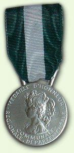 Médailles d'Honneur Régionale, Départementale et Communale Argent - recto