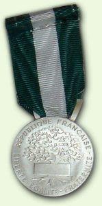 Médailles d'Honneur Régionale, Départementale et Communale Argent - verso