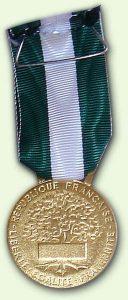 Médailles d'Honneur Régionale, Départementale et Communale Or - verso