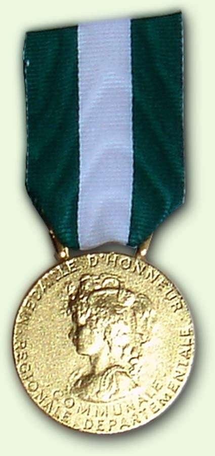 Médailles d'Honneur Régionale, Départementale et Communale